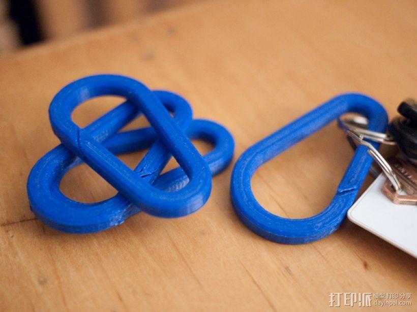 登山扣 登山锁 3D模型  图1