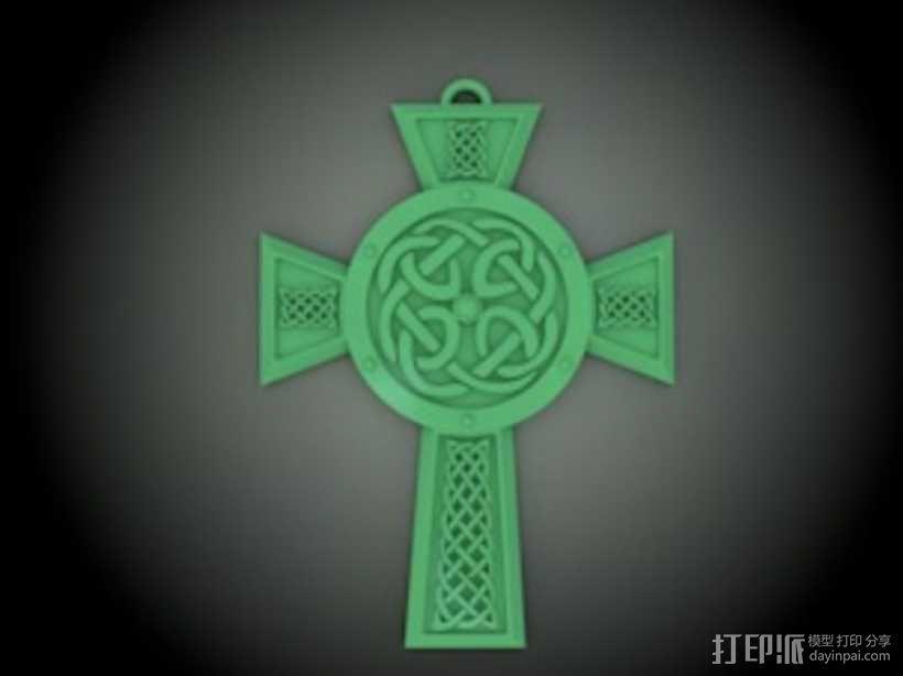 凯尔特十字架 饰品 3D模型  图1