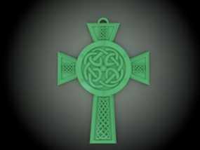 凯尔特十字架 饰品 3D模型