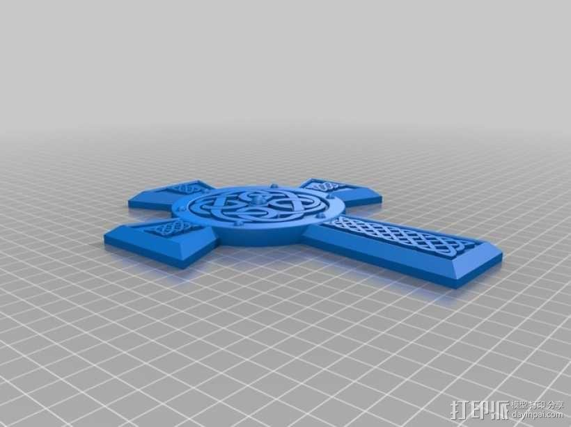凯尔特十字架 饰品 3D模型  图2
