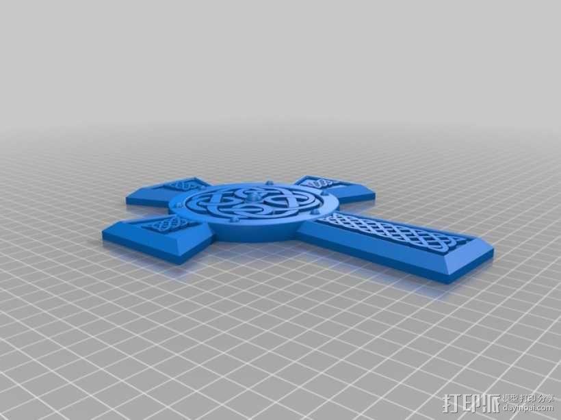 凯尔特十字架 饰品 3D模型  图3