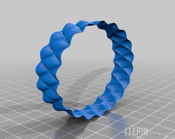 凹凸手镯 3D模型  图4