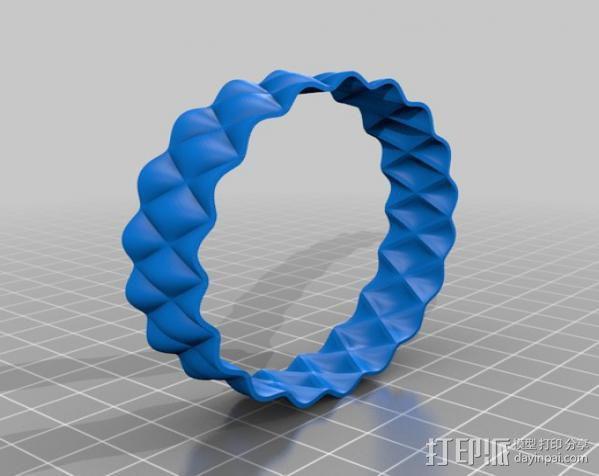 凹凸手镯 3D模型  图5