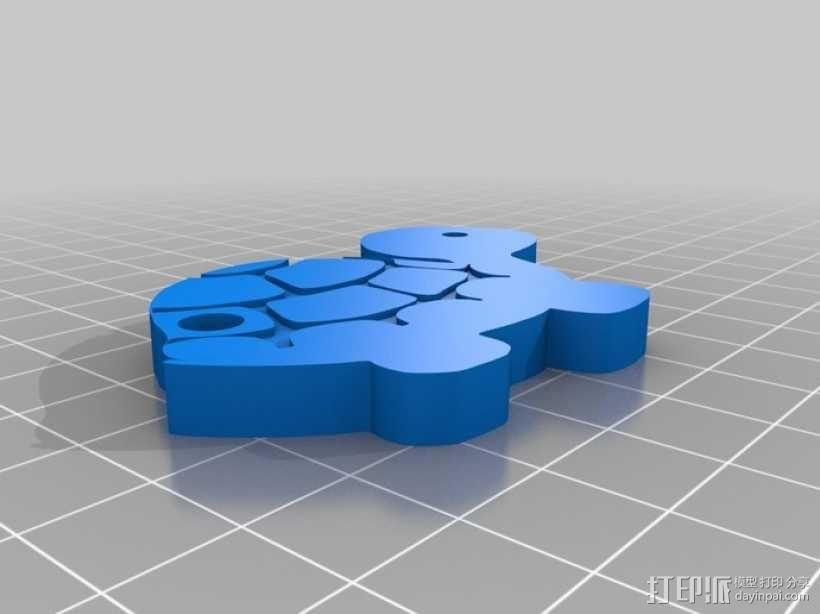 海龟钥匙扣 3D模型  图1