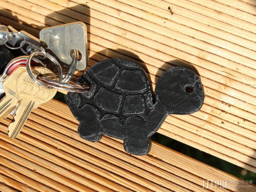 海龟钥匙扣 3D模型  图2