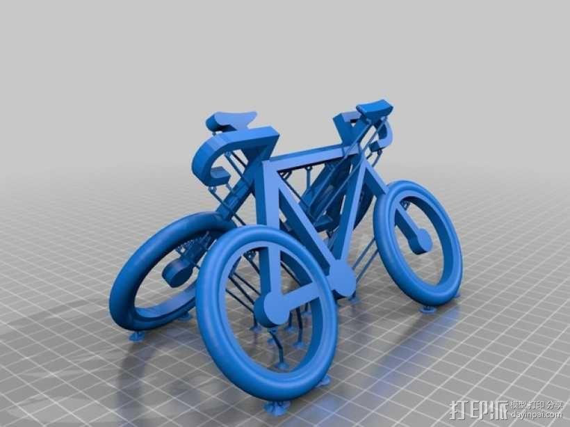 自行车 钥匙扣 3D模型  图4