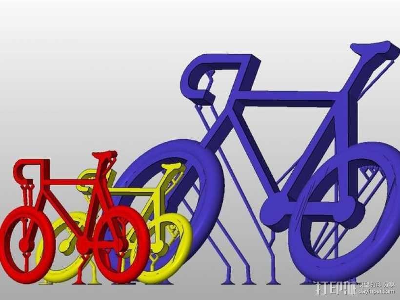 自行车 钥匙扣 3D模型  图9