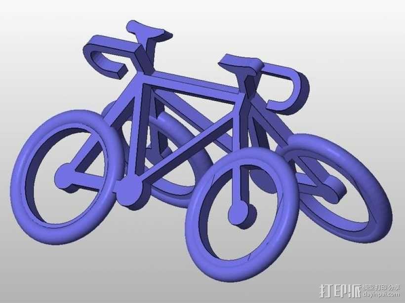 自行车 钥匙扣 3D模型  图10