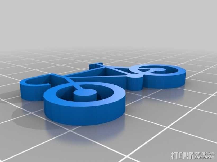 自行车 钥匙扣 3D模型  图13