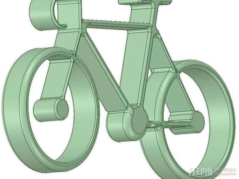 自行车 钥匙扣 3D模型  图17