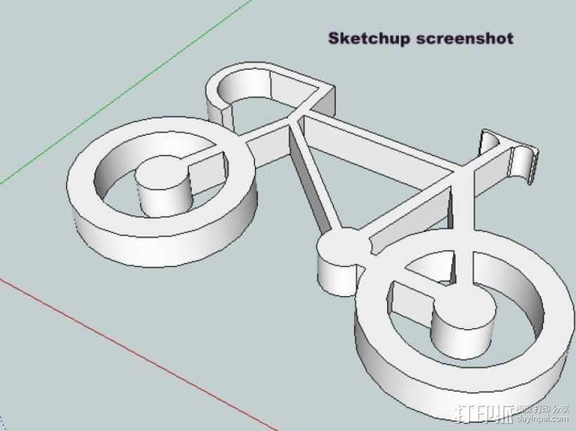 自行车 钥匙扣 3D模型  图16