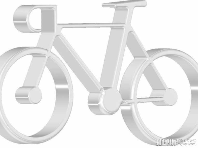 自行车 钥匙扣 3D模型  图18
