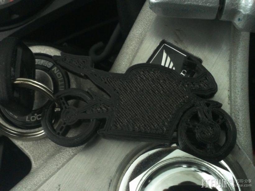 摩托车钥匙扣 3D模型  图2