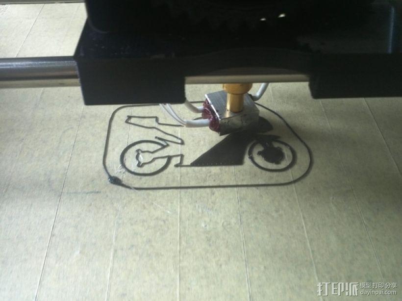 摩托车钥匙扣 3D模型  图4