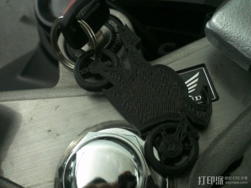 摩托车钥匙扣 3D模型  图3