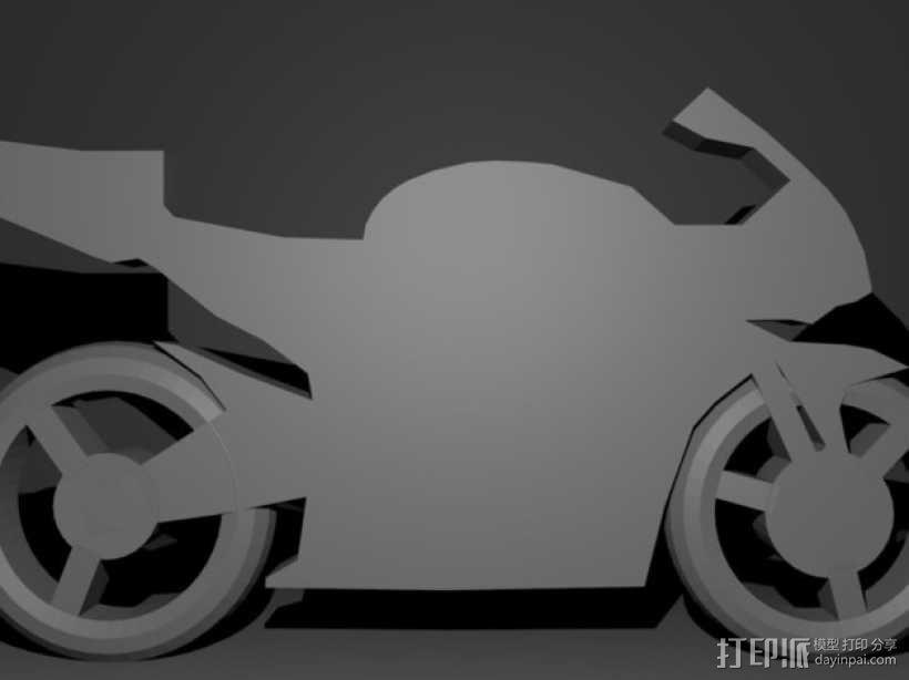 摩托车钥匙扣 3D模型  图5