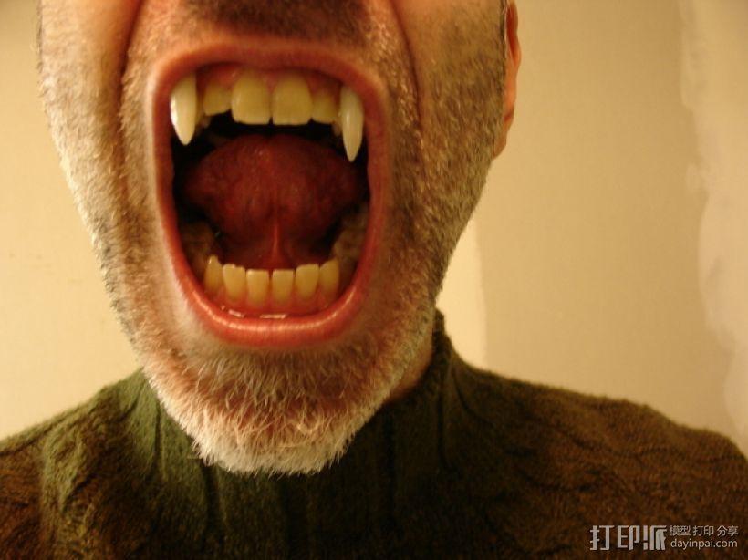 可伸缩的吸血鬼尖牙 3D模型  图4