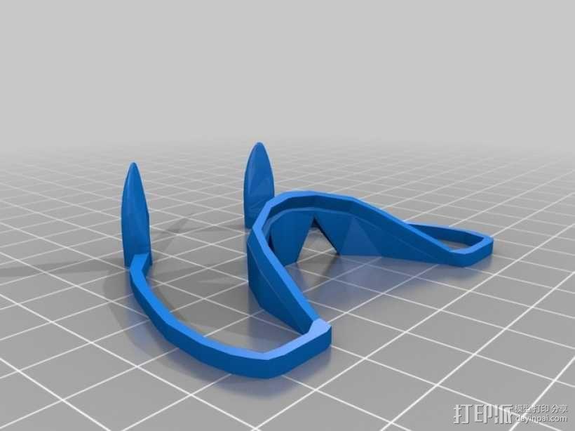 可伸缩的吸血鬼尖牙 3D模型  图7