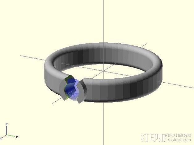 钻戒 指环 3D模型  图4