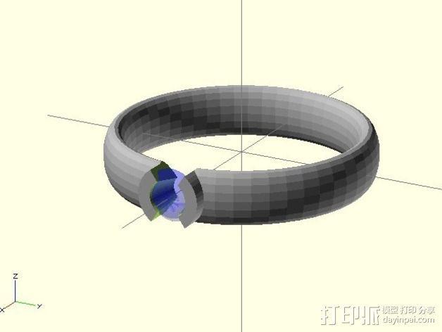 钻戒 指环 3D模型  图2