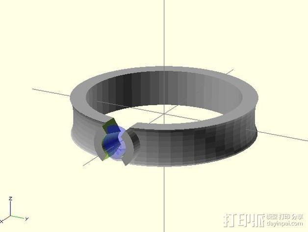 钻戒 指环 3D模型  图7