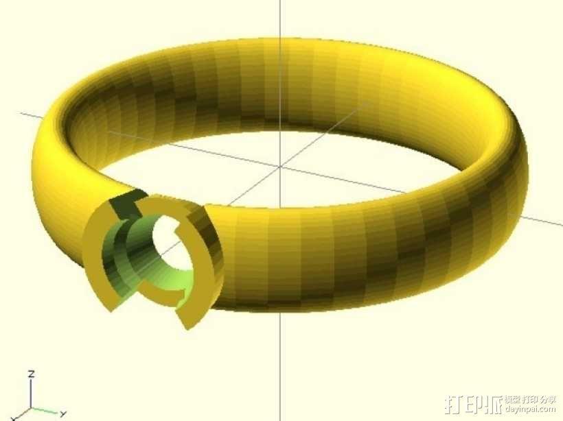 钻戒 指环 3D模型  图12