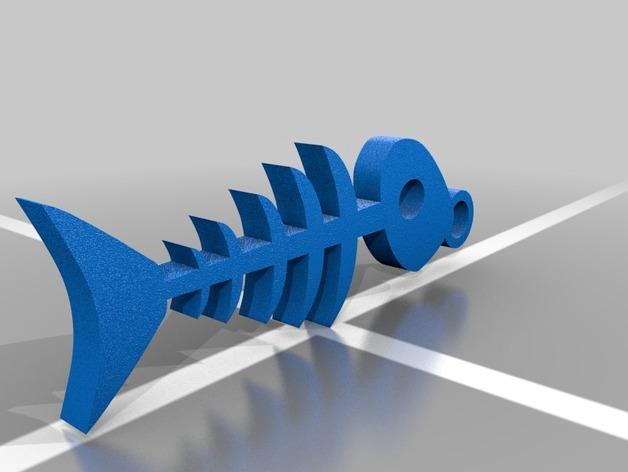 鱼骨钥匙扣 3D模型  图2