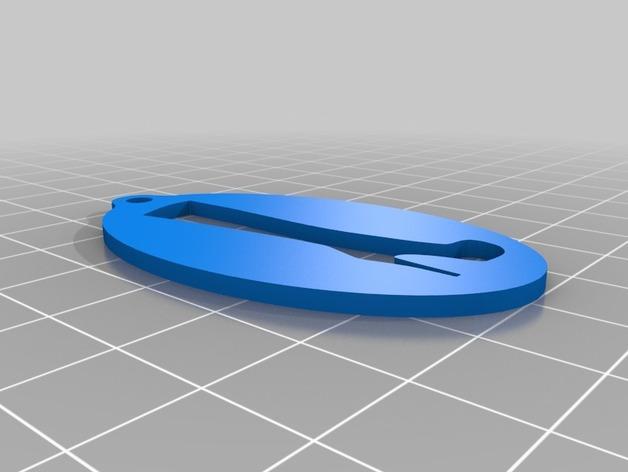 高跟靴钥匙扣 3D模型  图3
