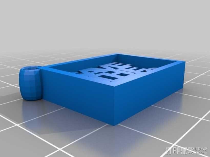 Save the Tatas吊坠 3D模型  图1