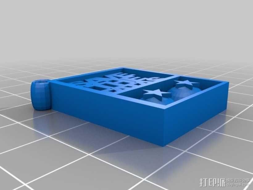 Save the Tatas吊坠 3D模型  图2