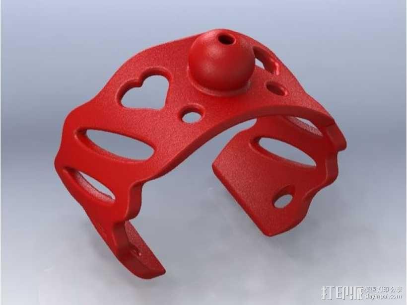 芳香海绵手镯 3D模型  图1