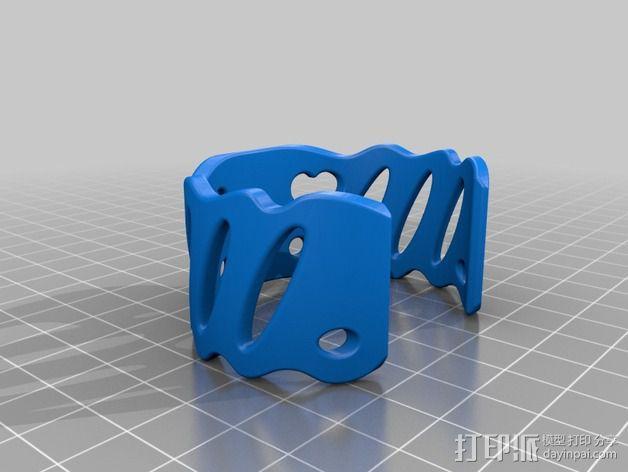 芳香海绵手镯 3D模型  图2