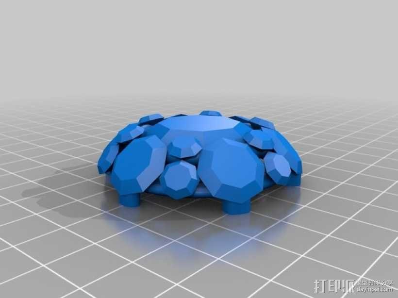 钻石粒子裙子 3D模型  图4