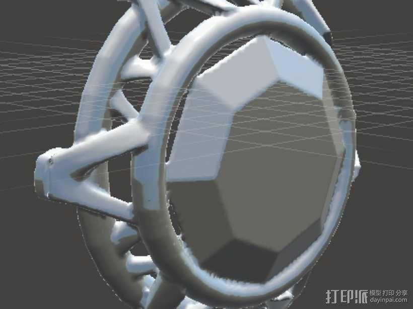 钻石粒子裙子 3D模型  图6