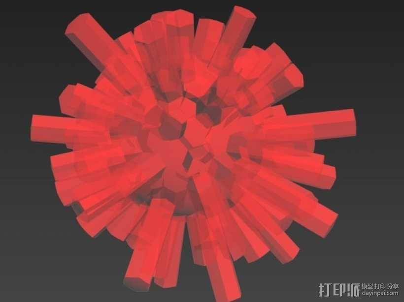 结晶球 3D模型  图2
