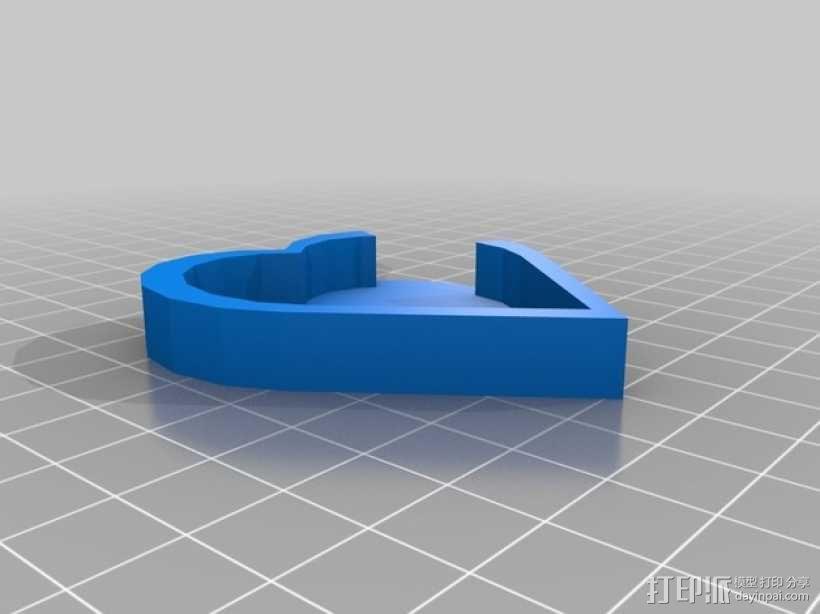 心形吊坠 3D模型  图3
