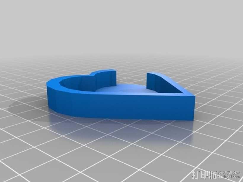 心形吊坠 3D模型  图4