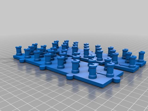 联锁织机 3D模型  图2