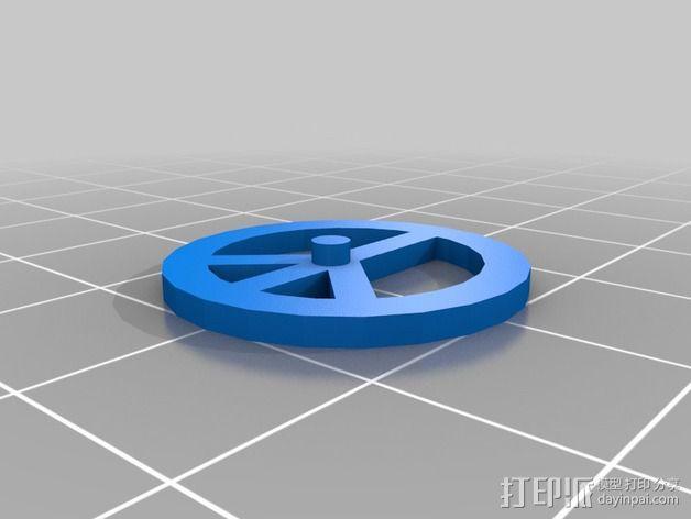 反战项链 3D模型  图2