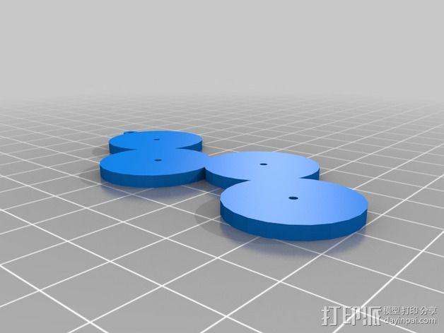 反战项链 3D模型  图3