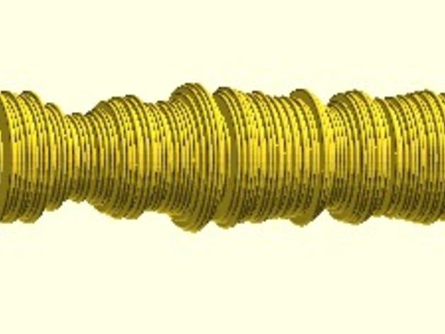 波形项链 3D模型  图3