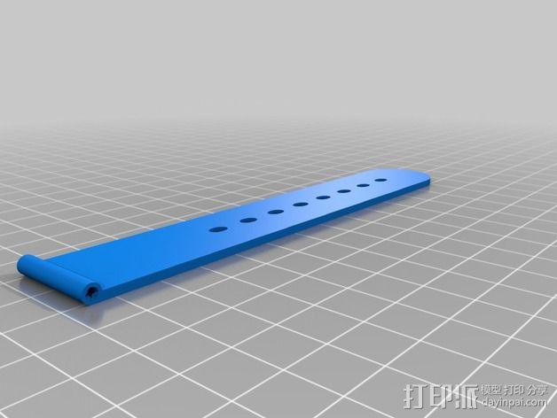 pebble 手表腕带 3D模型  图4