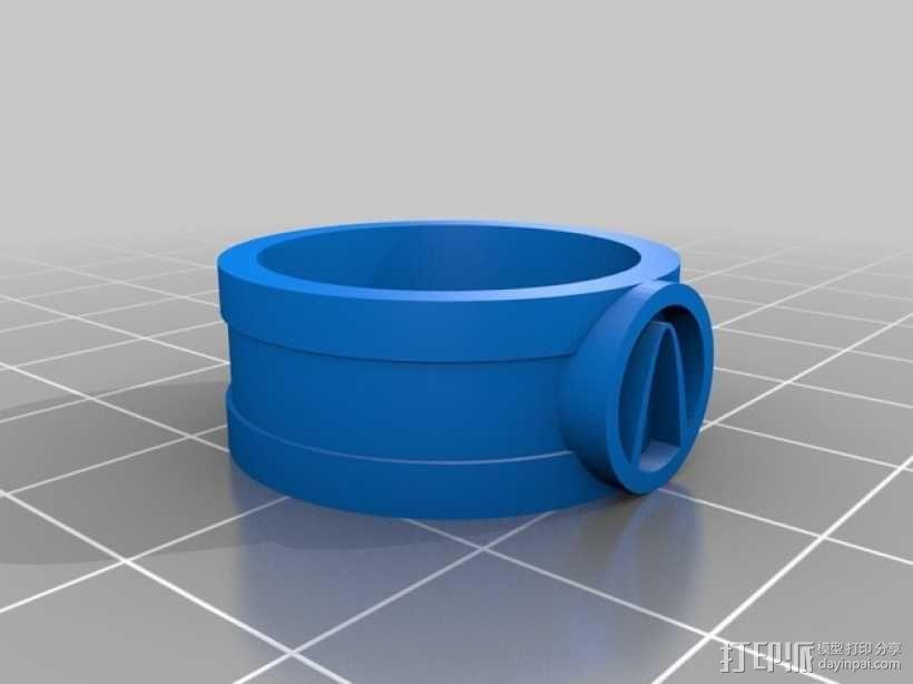 V字指环  3D模型  图2