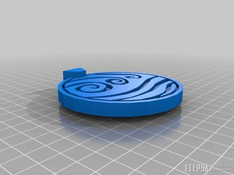 水善部落 项链吊坠 3D模型  图2