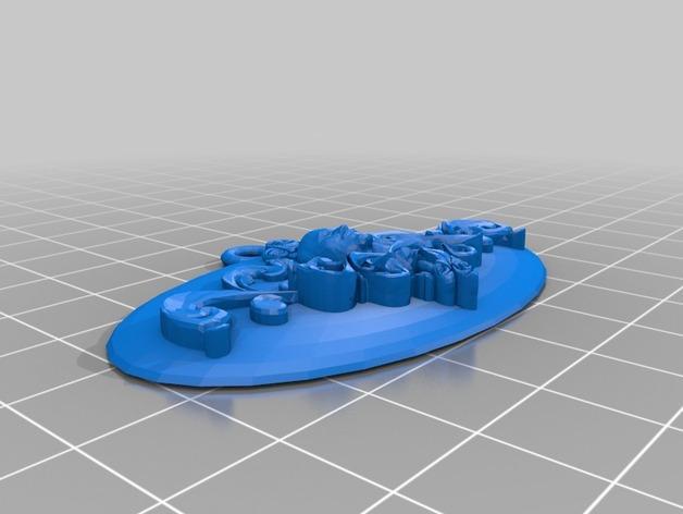 列宁浮雕吊坠 3D模型  图2