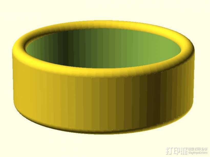圆边戒指  3D模型  图1