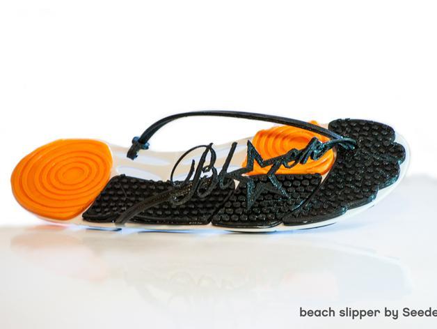 沙滩拖鞋  3D模型  图2