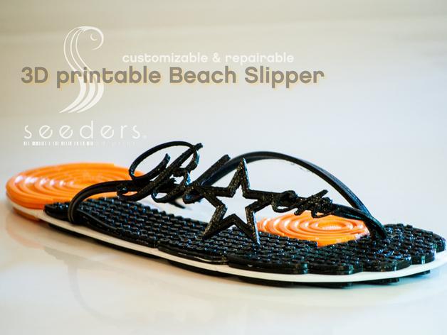 沙滩拖鞋  3D模型  图1