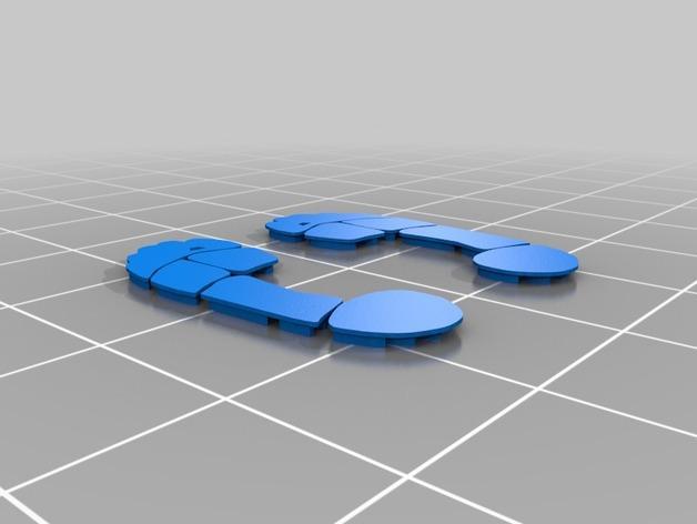 沙滩拖鞋  3D模型  图9