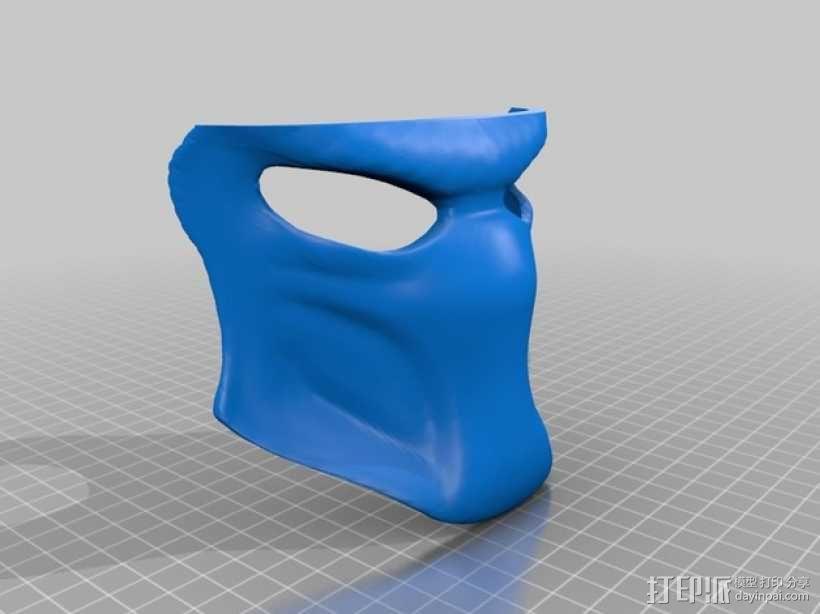 铁血战士 面具 3D模型  图3